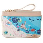 Greetings from Sea Islands Zip Wristlet